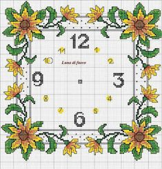 Embroidery sunflower punto de cruz Ideas for 2019 Cross Stitch Needles, Cross Stitch Bird, Cross Stitch Flowers, Cross Stitch Charts, Cross Stitch Designs, Cross Stitching, Cross Stitch Embroidery, Hand Embroidery, Cross Stitch Patterns