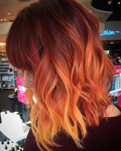 Good Screen Balayage Hair copper Style The are notable for several things: thigh-high boots, blossom power, the text groovy in ad Orange Ombre Hair, Orange Hair Colors, Dark Orange Hair, Bright Hair Colors, Orange Orange, Orange Nails, Cheveux Oranges, Halloween Hair, Happy Halloween