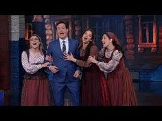 THE LATE SHOW WITH STEPHEN COLBERT (March 1, 2016) ~ The Broadway revival cast of FIDDLER ON THE ROOF performs and Colbert joins in. (5:22) [Video]