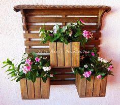 Jardins e Artes: Floreira Feita de Madeira para Parede