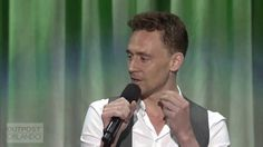 "Tom Hiddleston sings the ""Bare Necessities"" Jungle Book at the Disney D2 ~ Acapella, no doubt, not easy for more peeps"