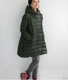 A-ligne longue Down manteau à capuchon Long Down Jacket Womens Down manteau vetement sur Etsy, 121,09€