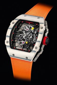 """Rafael Nadal Watch Has Novel Quartz TPT Case - by Ariel Adams - see & read more about it now: http://www.ablogtowatch.com/richard-mille-rafael-nadal-rm27-02-watch-quartz-tpt/ """"Here it is, the first Richard Mille watch in quartz. No, not a quartz crystal-based movement, but rather, a quartz case material. This is the Richard Mille RM27-02 (RM 27-02) Tourbillon Rafael Nadal in a case that combines carbon and quartz material. So let's discuss why a lot of luxury watches look"""