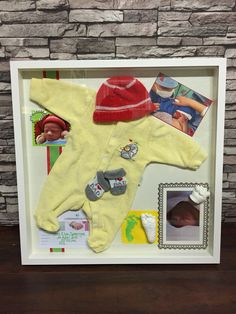 A birth shadow box with 3D Casting