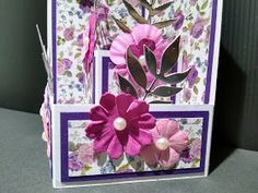 IcedImages: Balcony Front Card Fancy Fold Cards, Folded Cards, Ice Images, Pop Up Box Cards, Card Making Tips, Card Templates, Balcony, Birthday Cards, Shapes