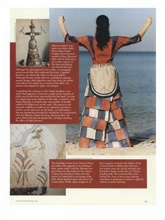 replicas of Minoan clothing by Bernice Jones, in Archaeology Magazine