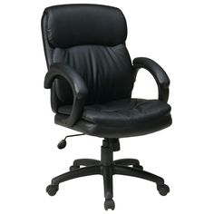 Office Star Products Work Smart Eco Mid-back Contour Executive Chair