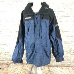 Columbia mens Omni track waterproof winter jacket size Medium blue/gray  | eBay