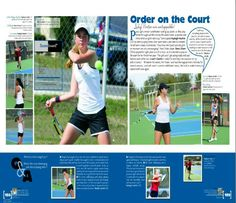 2017 Pasco High School Yearbook, Dade City, FL - Sports spread, Tennis