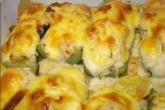 Νόστιμα γεμιστά κολοκύθια καρμπονάρα στον φούρνο Cauliflower, Food And Drink, Vegetables, Cooking, Recipes, Kai, Kitchen, Cauliflowers, Vegetable Recipes