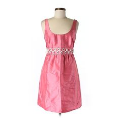 Pre-owned Vineyard Vines Silk Dress ($81) ❤ liked on Polyvore featuring dresses, pink, pink silk dress, pink dress, pre owned dresses, silk dress and vineyard vines dresses
