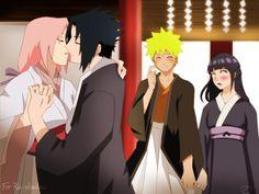 When Does Naruto Kiss Hinata | ... Sakura, Uzumaki Naruto, Uchiha Sasuke, Hyuuga Hinata, Almost Kiss