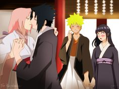 Aww! Except I'd rather see NaruHina almost kissing.. ;)