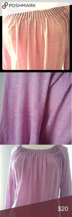 Tahari Lilac  Blouse Great condition.. Worn once.  Tahari runs a little large. This is a small/petite but it fits like a medium. Tahari Tops Blouses