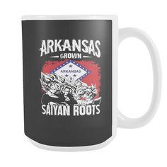 Super Saiyan ARKANSAS Grown Saiyan Roots 15oz Coffee Mug - TL00167M5