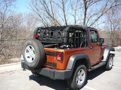 Could still ride with the top down when the doggies are with me! Netting+for+Jeep+Wrangler+JK+2+Door+2007-up+3+pc+kit