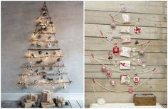 15 seriously creative ideas to help you get the perfect Christmas tree Cute Christmas Decorations, Wall Christmas Tree, Creative Christmas Trees, Easy Christmas Crafts, Simple Christmas, Holiday Decor, Creative Crafts, Diy Crafts, Creative Ideas