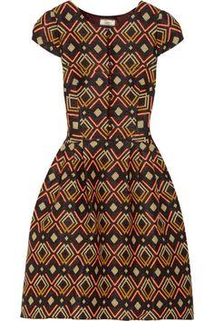 Issa patterned woven dress ~African fashion, Ankara, kitenge, African women dresses, African prints, African men's fashion, Nigerian style, Ghanaian fashion ~DKK