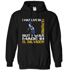 I May Live in the Philippines But I Was Made in El Salv - #homemade gift #bridal gift. CHECK PRICE => https://www.sunfrog.com/States/I-May-Live-in-the-Philippines-But-I-Was-Made-in-El-Salvador-kyqctptimf-Black-Hoodie.html?68278