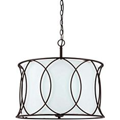 Canarm ICH320A03ORB20 Monica 3-Light Chandelier, Oil Rubbed Bronze