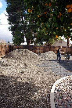 DIY gravel driveway