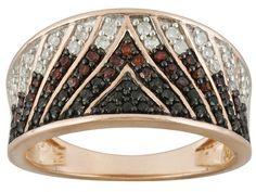 Park Avenue(Tm), .63ctw Tuxblack Diamond(Tm) & Red & White Diamond18k Rose Gold Over Silver Band