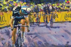 Dutch artist Rob Ijbema paints Le Tour for third year | VeloNews.com