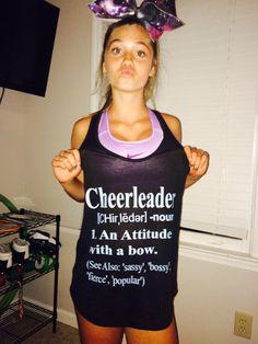 Cheerleader Definition Shirt by SizeMattersCheerBows on Etsy Football Cheer, Cheer Camp, Cheer Dance, Cheer Sister Gifts, Cheer Gifts, Cheer Practice Outfits, Cheer Outfits, Cheerleading Gifts, Cheer Bows