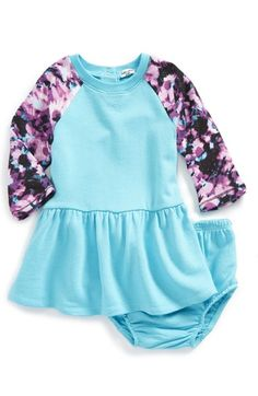 Splendid 'Abstract Floral' Raglan Sleeve Sweatshirt Dress (Baby Girls) available at #Nordstrom