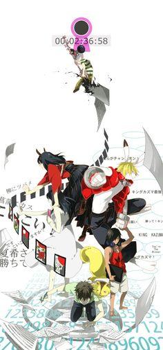 Summer Wars (Movie): Kazuma, Natsuki, and Kenji