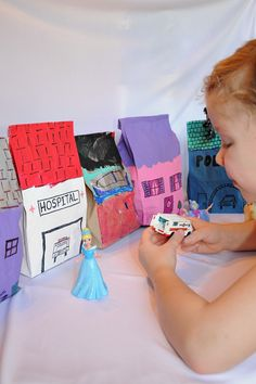 Such a simple and awesome idea ----> Dramatic Play Time! Make a Pretend City with Paper Bags