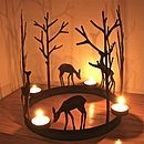 Christmas Reindeer Ring Tealight Holder from the london garden design company Office Christmas, Christmas Crafts, Christmas Decorations, Diy Home Crafts, Diy Arts And Crafts, Licht Box, Wooden Art, Home And Deco, Bottle Crafts