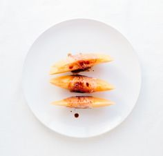 Cantaloupe & Prosciutto with Balsamic Vinegar