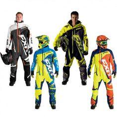 FXR Racing Maverick Mens Skiing Snowboard Sled Snowmobile Monosuit