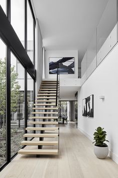 French Home Decor Doncaster East / White Smoked - Timber Flooring Project Dream Home Design, Modern House Design, Home Interior Design, Interior Architecture, Interior And Exterior, Modern Stairs Design, Loft House Design, Duplex Design, House Design Photos