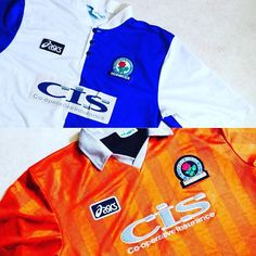 Blackburn rovers home and away shirts 1996/98 - produced by Asics. Link in bio #Blackburn #blackburnrovers #rovers #brfc #ewoodpark #football #footballshirt #asics #retro #retroshirt #retrofootball #vintageasics #vintagefootball #vintagefootballshirt #premiership #premierleague #soccer #soccerjersey #classickit #classicfootball #90s #90svintage #90sfootball #vintagesportswear