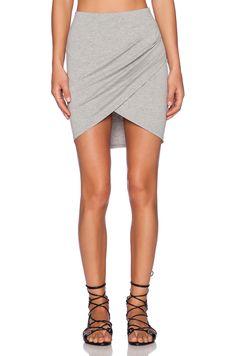 ISLA & LULU That's a Wrap Mini Skirt in Grey Marle