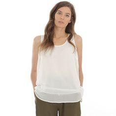 Camiseta de tirantes vaporosa