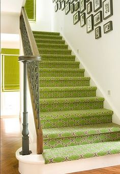printed rug for stairs