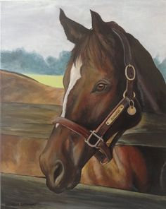 16x20 custom horse portrait painting from photo on by SWISHandWAG