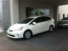 About to drive away with a 2012 Prius V  www.DriveBaby.com #DriveBaby