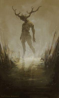 Swamp Walker (sketch) by TristanBerndtArt