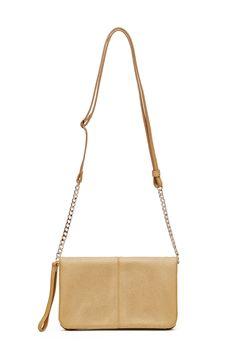 Brushed Gold Flap X-Body Bag