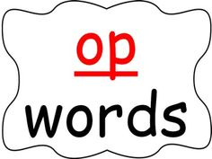 Students practice reading words in the -op word family as you go through the power point presentation. This is a great activity for introducing a new word family or for rhyming.  Be the first to know about my sales, freebies and new products:  • Look for the green star next to my store logo and click it to become a follower.