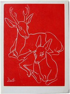 Buck and Doe Moose Art, Animals, Animales, Animaux, Animal, Animais