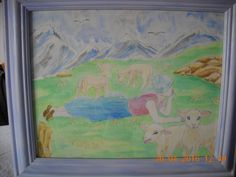 aquarelle - corriger les agneaux - réalisation eliane