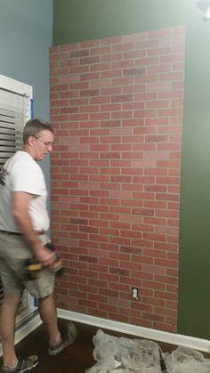 Miranda -- show keith for basement wall behind bar!!  Faux Brick Wall