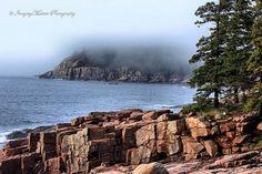 Otter Point In The Fog,Bar Harbor,Maine