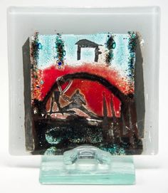 Glass painting // Unique and exclusive work of art made by glass artist Branka Lugonja.