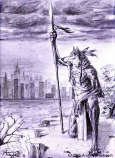 In the mythology of the Algonquian-speaking tribes of Native Americans, the Wendigo is a malevolent supernatural creature. It is usually described as a giant with a heart of ice; sometimes it is thought to be entirely made of ice. Its body is skeletal and deformed, with missing lips and toes. The first accounts of the Wendigo myth by explorers and missionaries date back to the 17th century. They describe it rather generically as a werewolf, devil, or cannibal. The Wendigo was usually presume